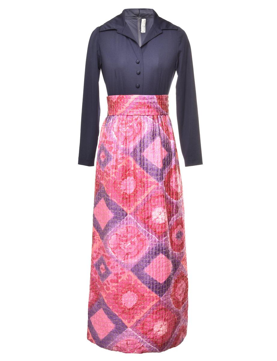 1970s Maxi Shirt Dress - S