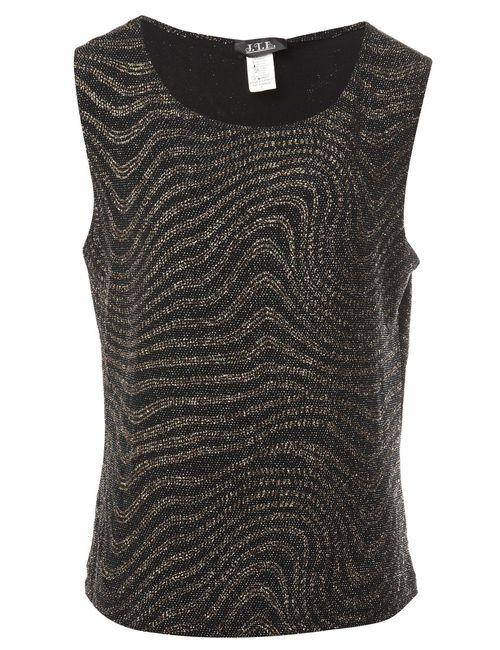 1990s Metallic Look Vest - L