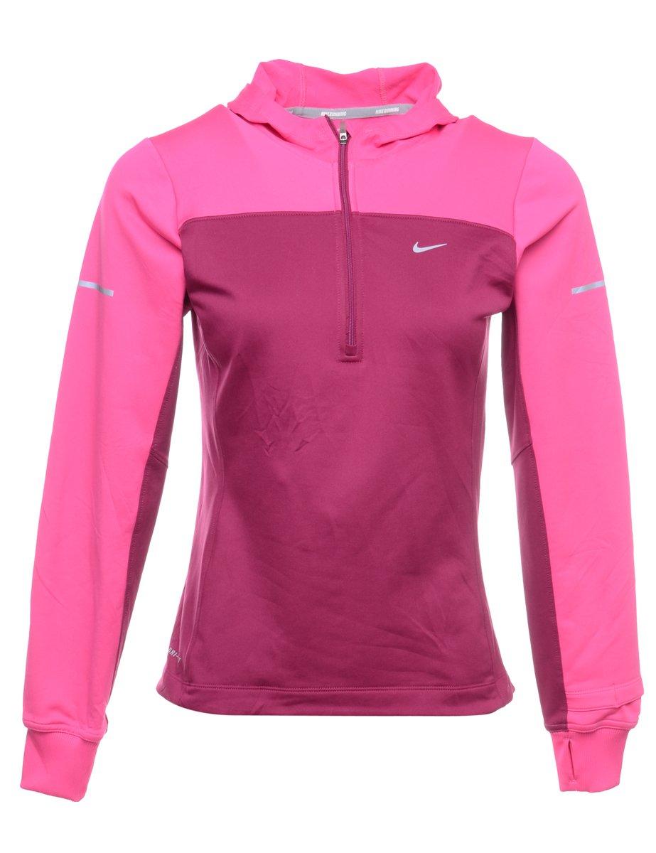 1990s Nike Hooded Sweatshirt - S