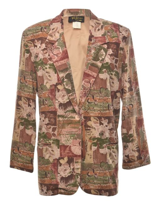 1980s Floral Blazer - L