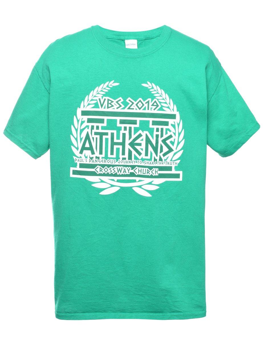 Beyond Retro 2000s Athens Printed T-shirt - L