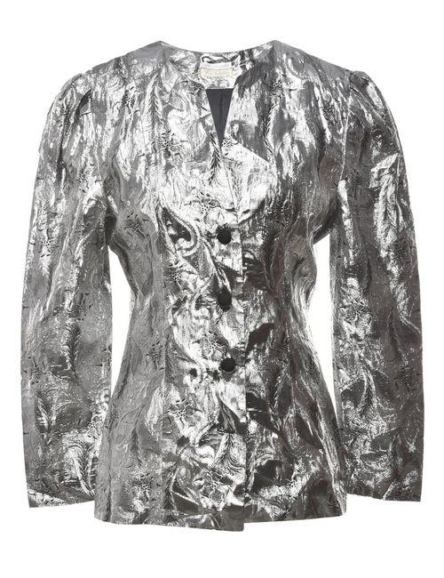 1980s Shiny Evening Jacket - S