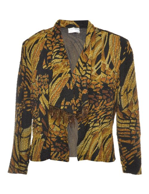 1990s Fringed Evening Jacket - L