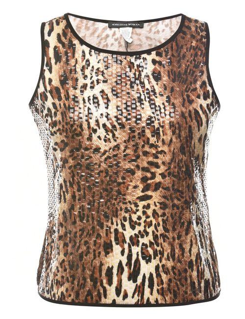 2000s Animal Print Vest - M