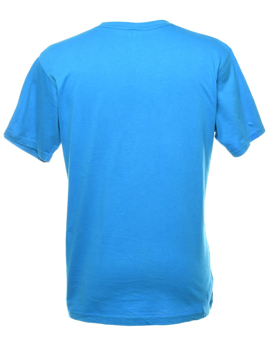 Beyond Retro 2000s Blue Plain T-shirt - L