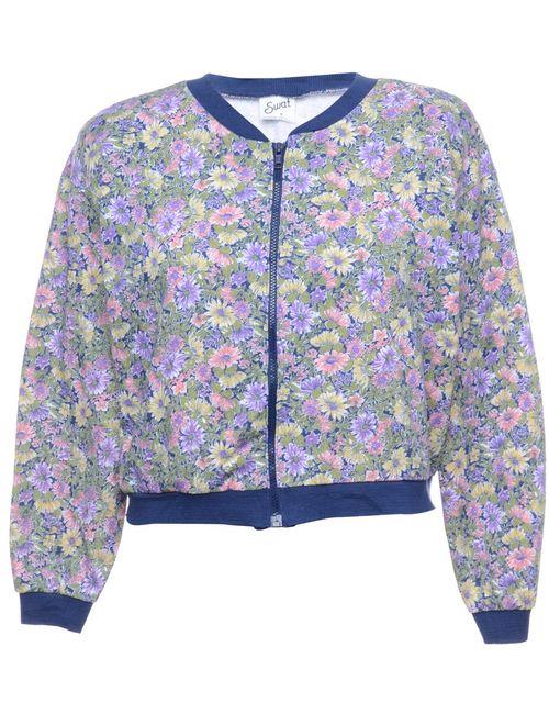 1990s Floral Pattern Jacket - M
