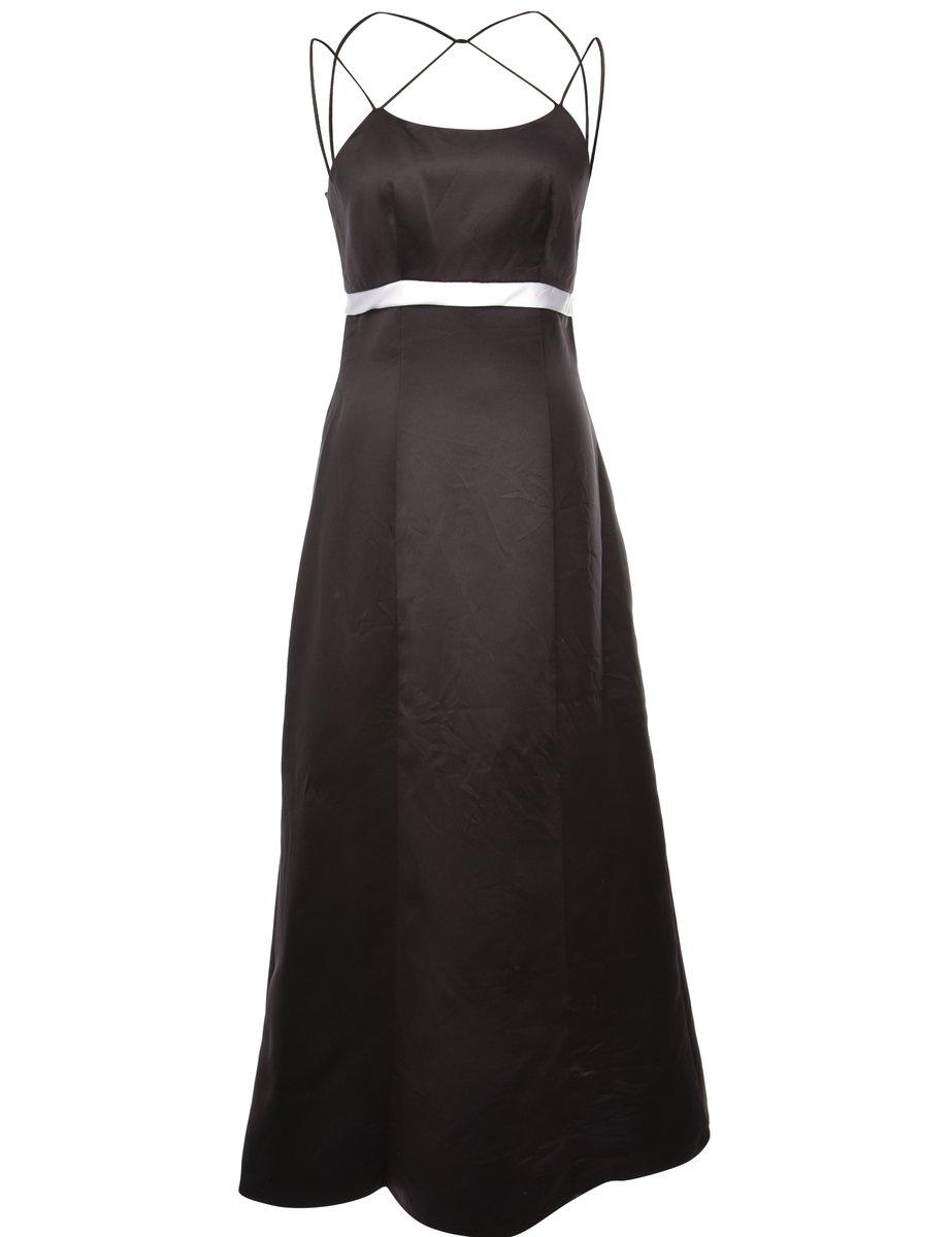 1980s Black Dress - M