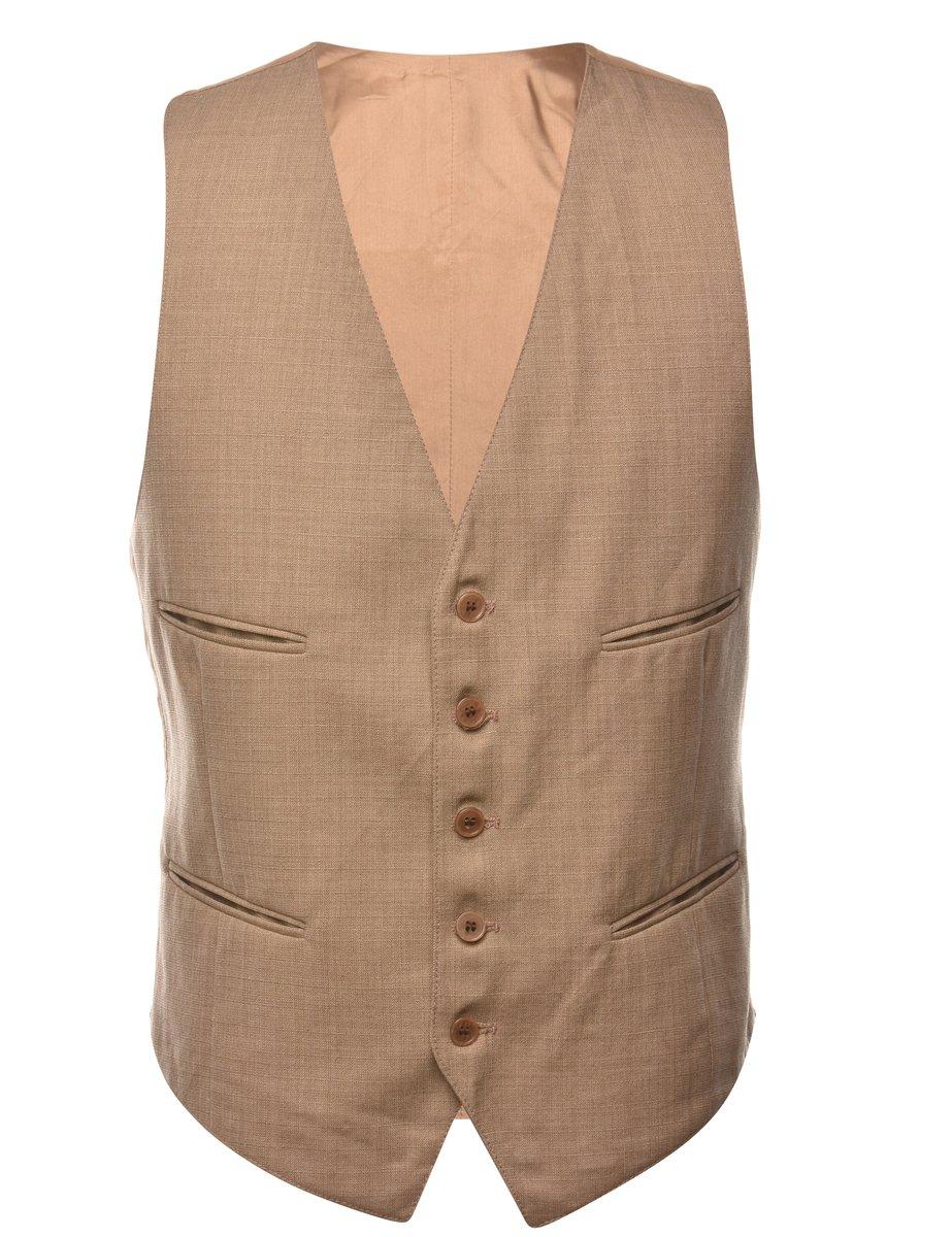 1990s Button Through  Waistcoat - M