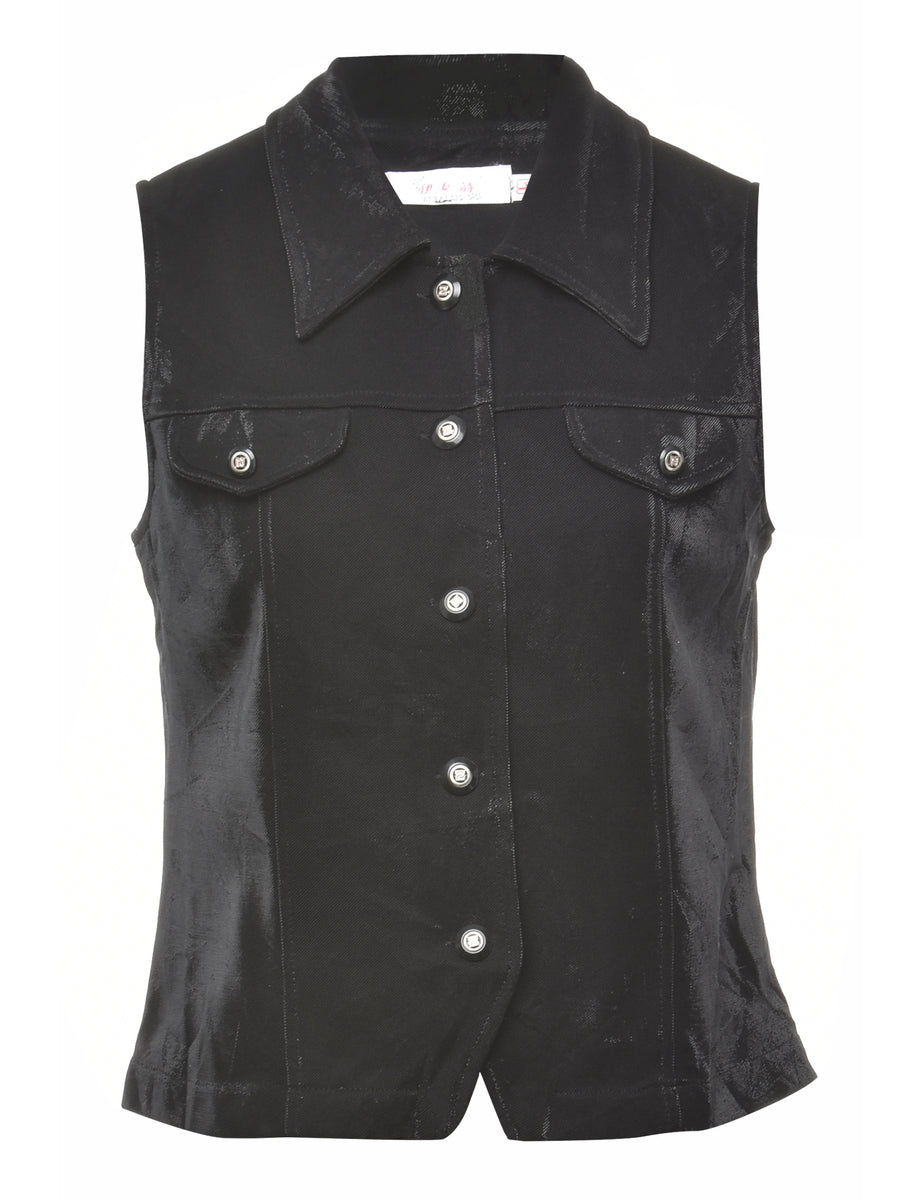 1990s Button Front Waistcoat - M