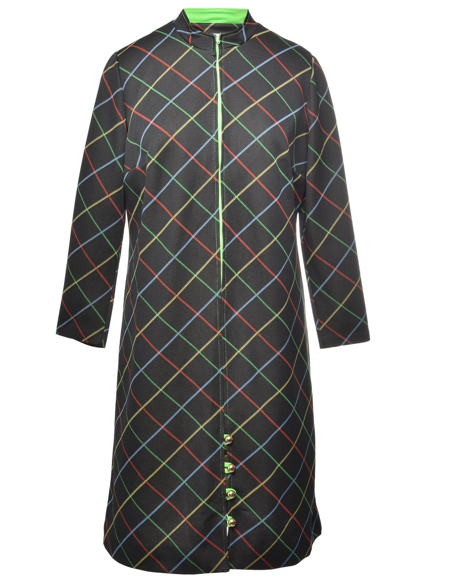 1970s Checked Dress - M
