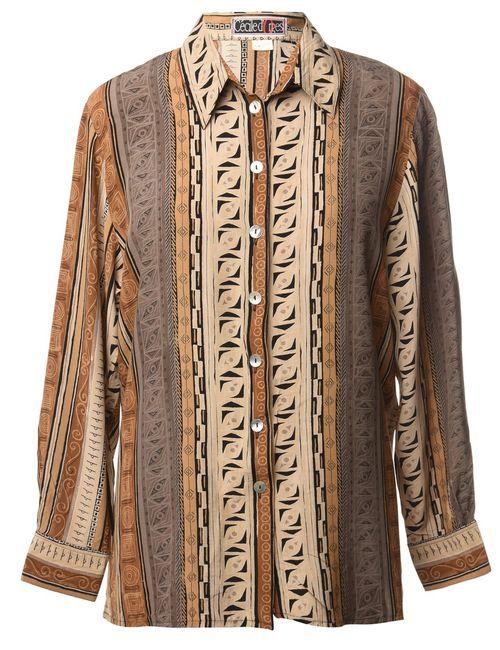 1990s Geometric Shirt - L