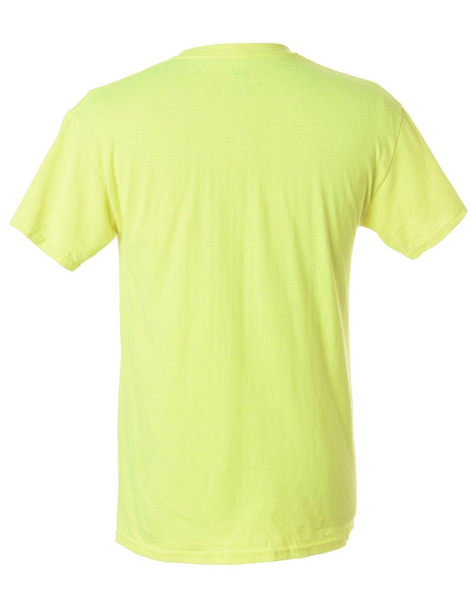 1990s Green Printed T-shirt - M