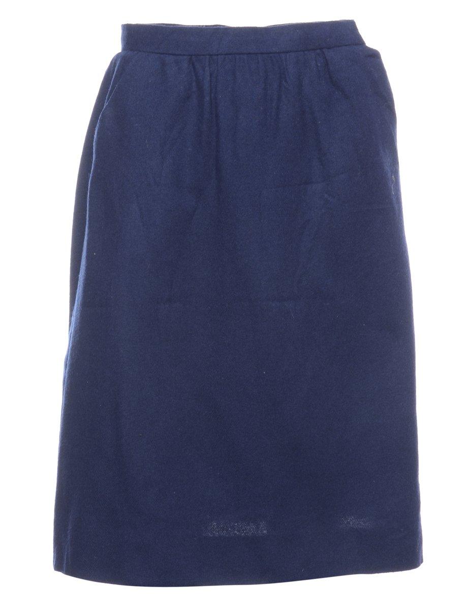 1980s Woollen A-line Skirt - S