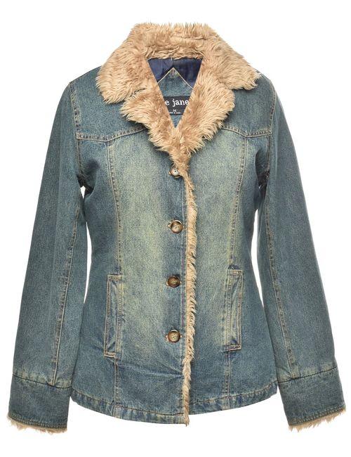 2000s Olive Green Denim Jacket - M