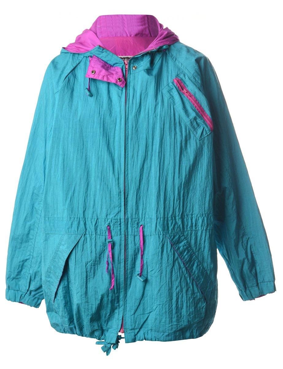 Beyond Retro 1990s Hooded Nylon Jacket - M