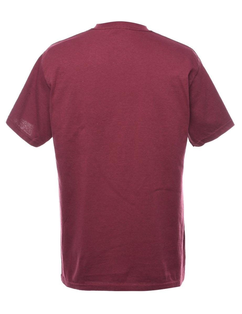 Beyond Retro 2000s Brown Printed T-shirt - M
