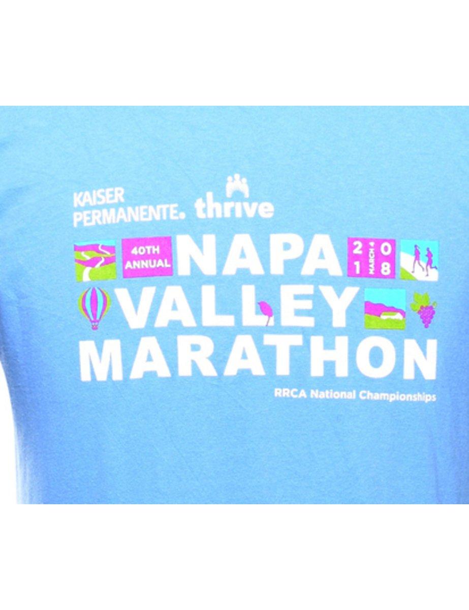 Beyond Retro 2000s Napa Valley Marathon Printed T-shirt - L
