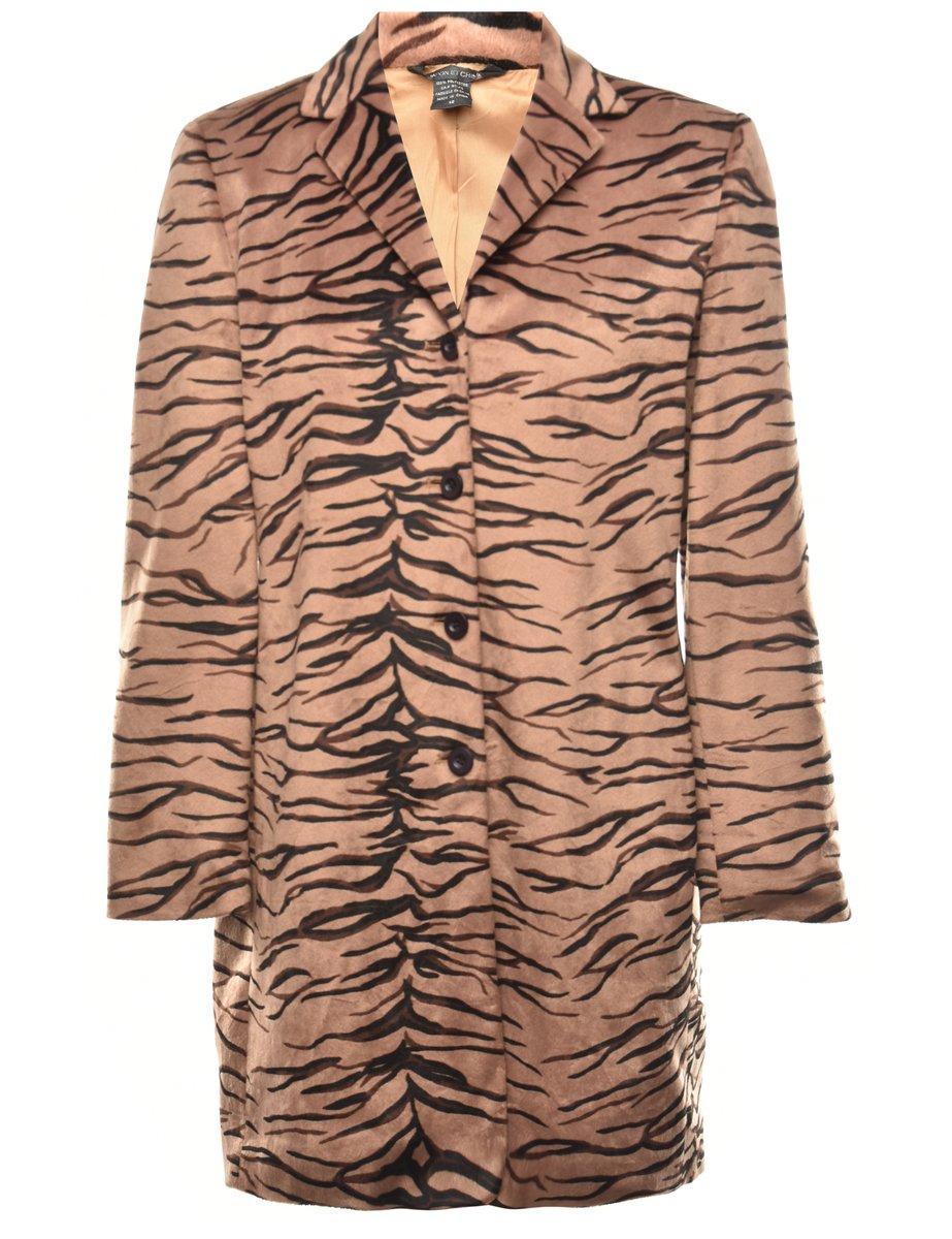 2000s Animal Print Jacket - L