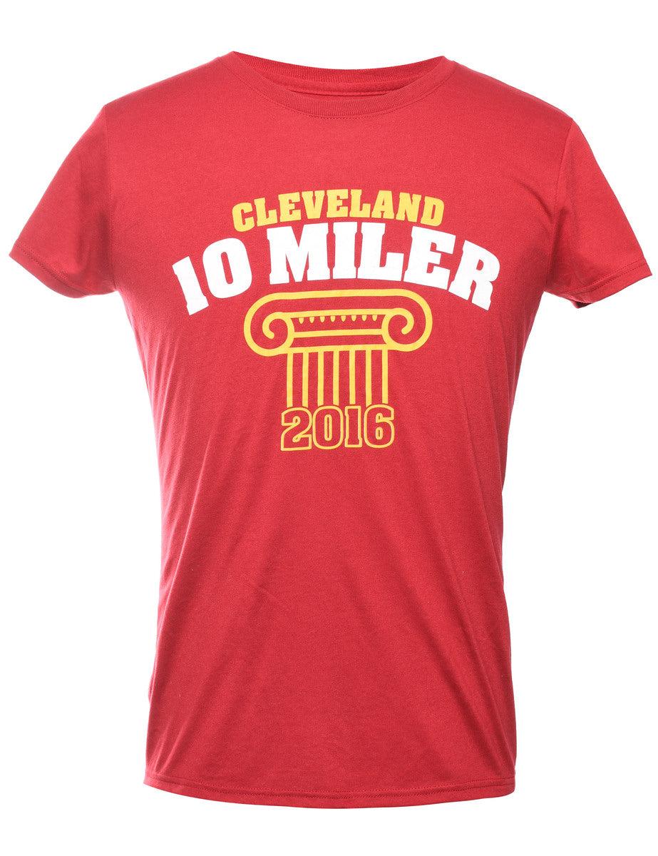 2000s Cleveland 10 Miler Printed T-shirt - M