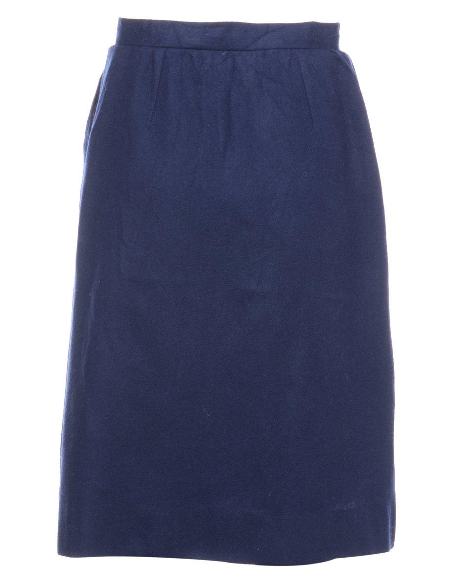 Beyond Retro 1980s Woollen A-line Skirt - S