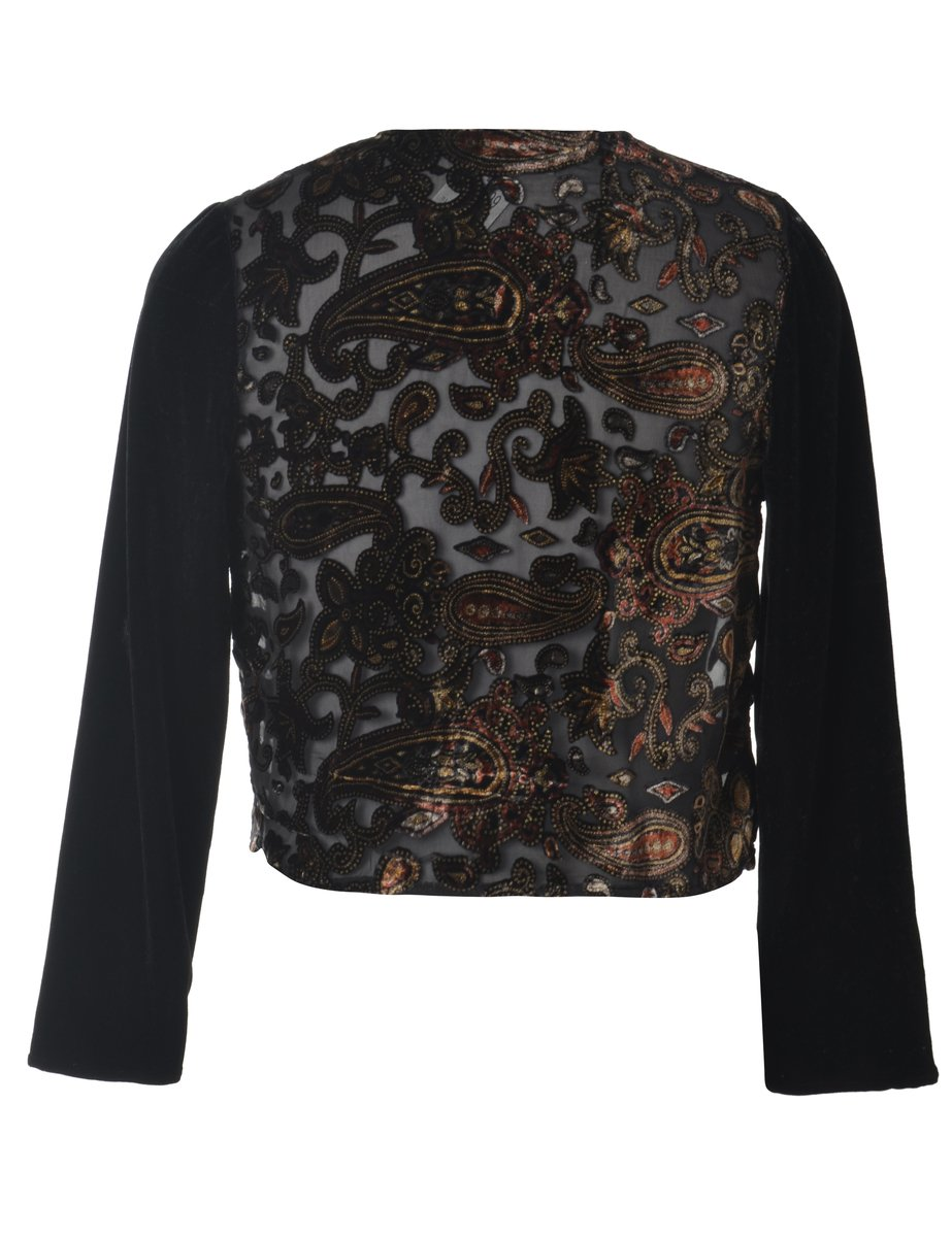 1990s Paisley Pattern Evening Jacket - M
