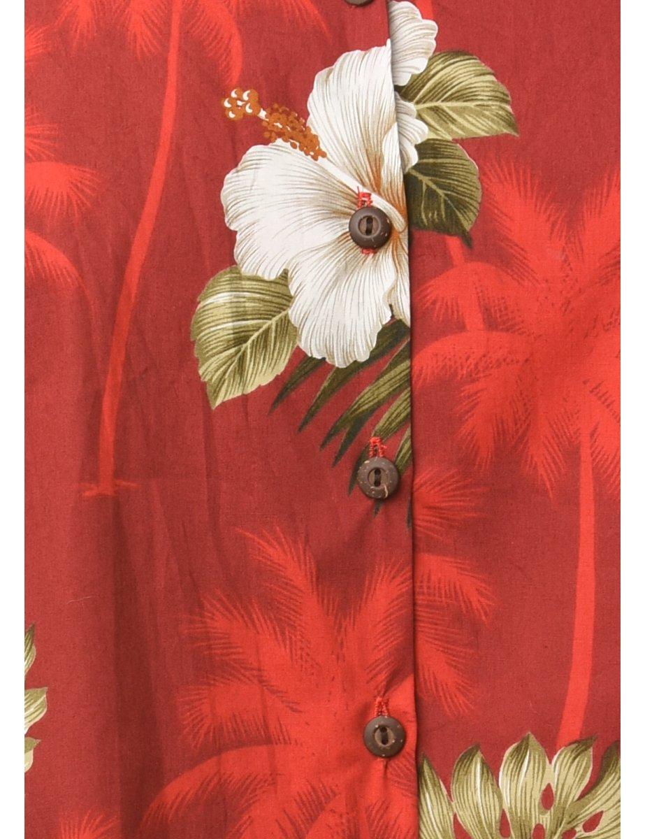 1990s Floral Vest - M