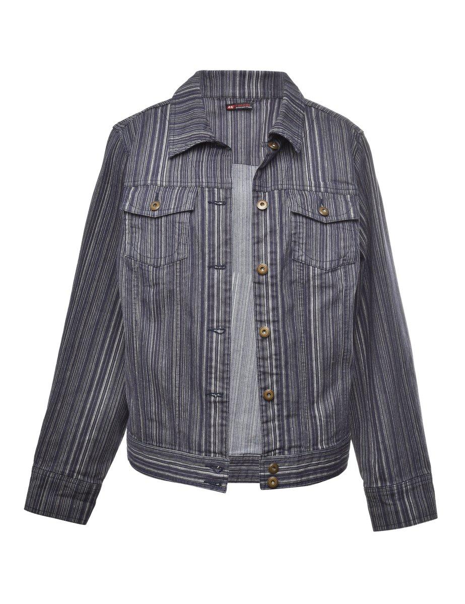 2000s Button Front Denim Jacket - M