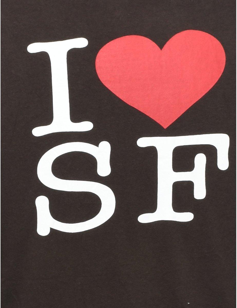 Beyond Retro 2000s Baseball I Love SF Printed T-shirt - M