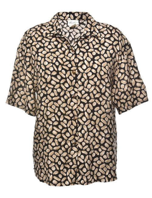 1980s Printed Shirt - M