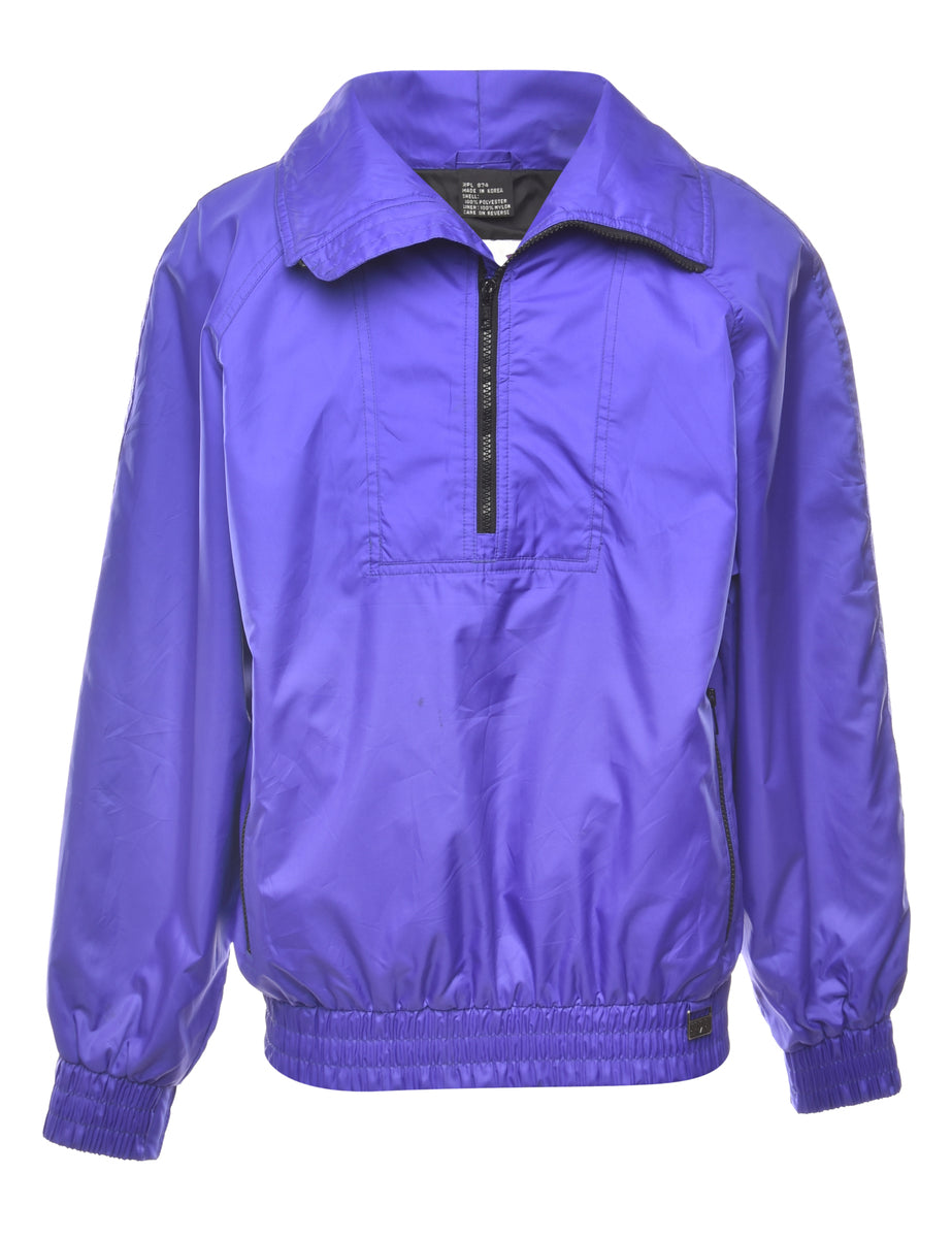 1990s Zip Front Nylon Jacket - L