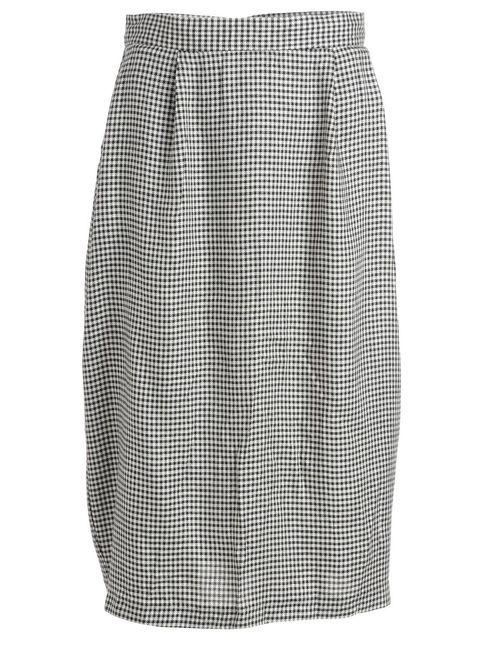 1990s Houndstooth Skirt - S
