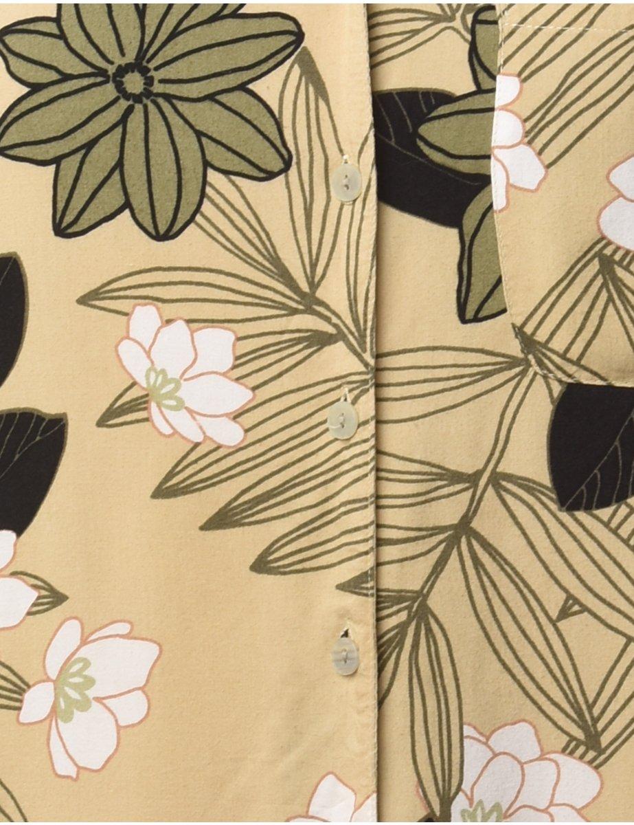 1990s Floral Hawaiian Shirt - M