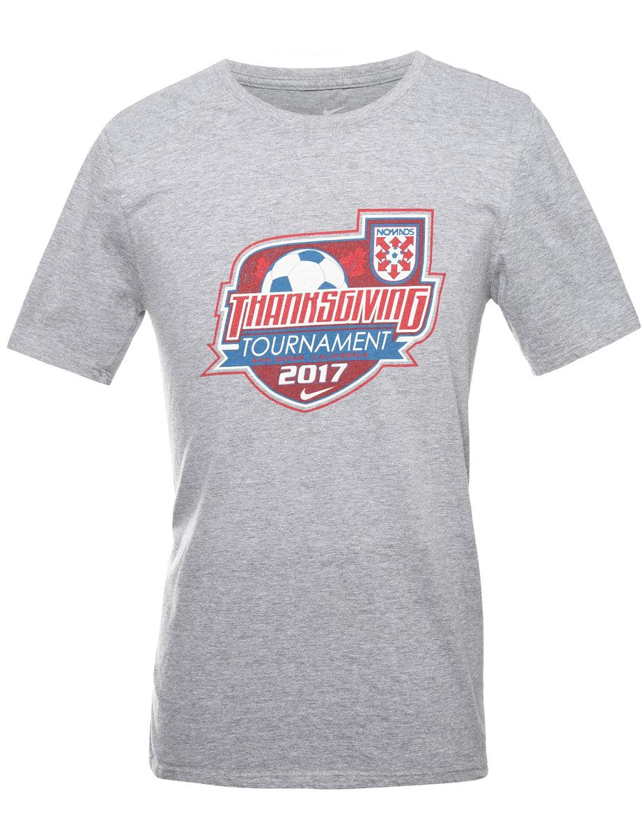 2000s Nike Thanksgiving Tournament Printed T-shirt - S