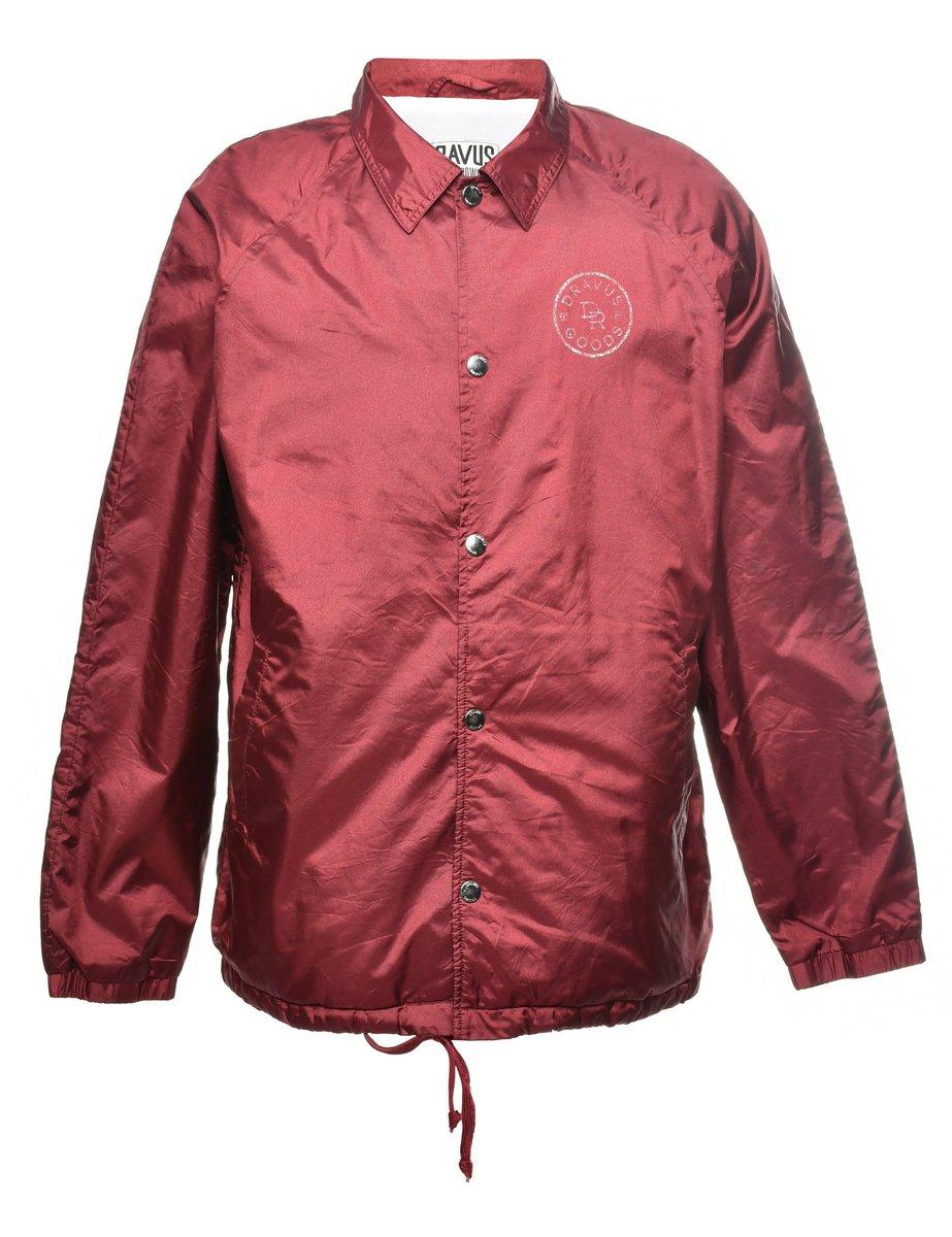 2000s Single Breasted Nylon Jacket - L