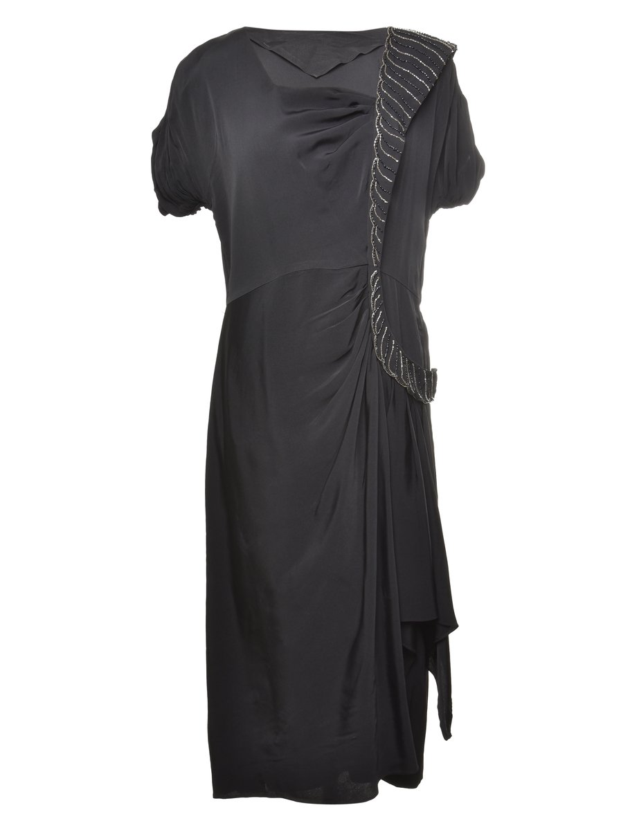 1940s Beaded Party Dress - M