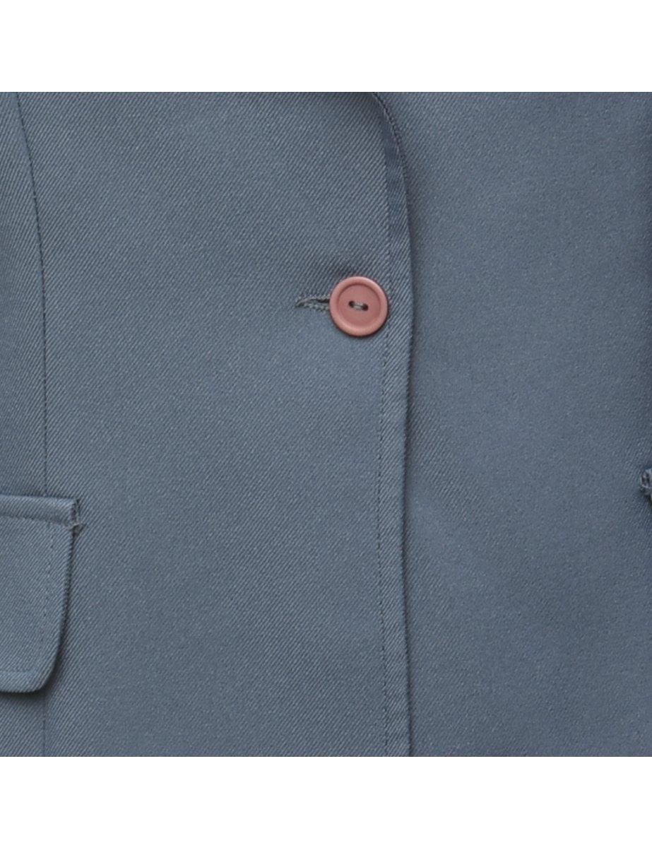 Beyond Retro 1990s Button Front Blazer - M