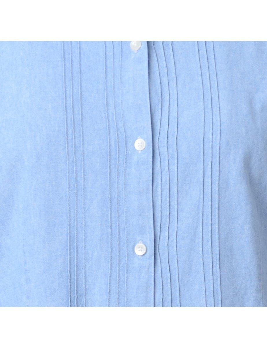 Beyond Retro 1990s Pin Tucks Denim Shirt - L
