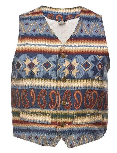 1990s Aztec Waistcoat - M