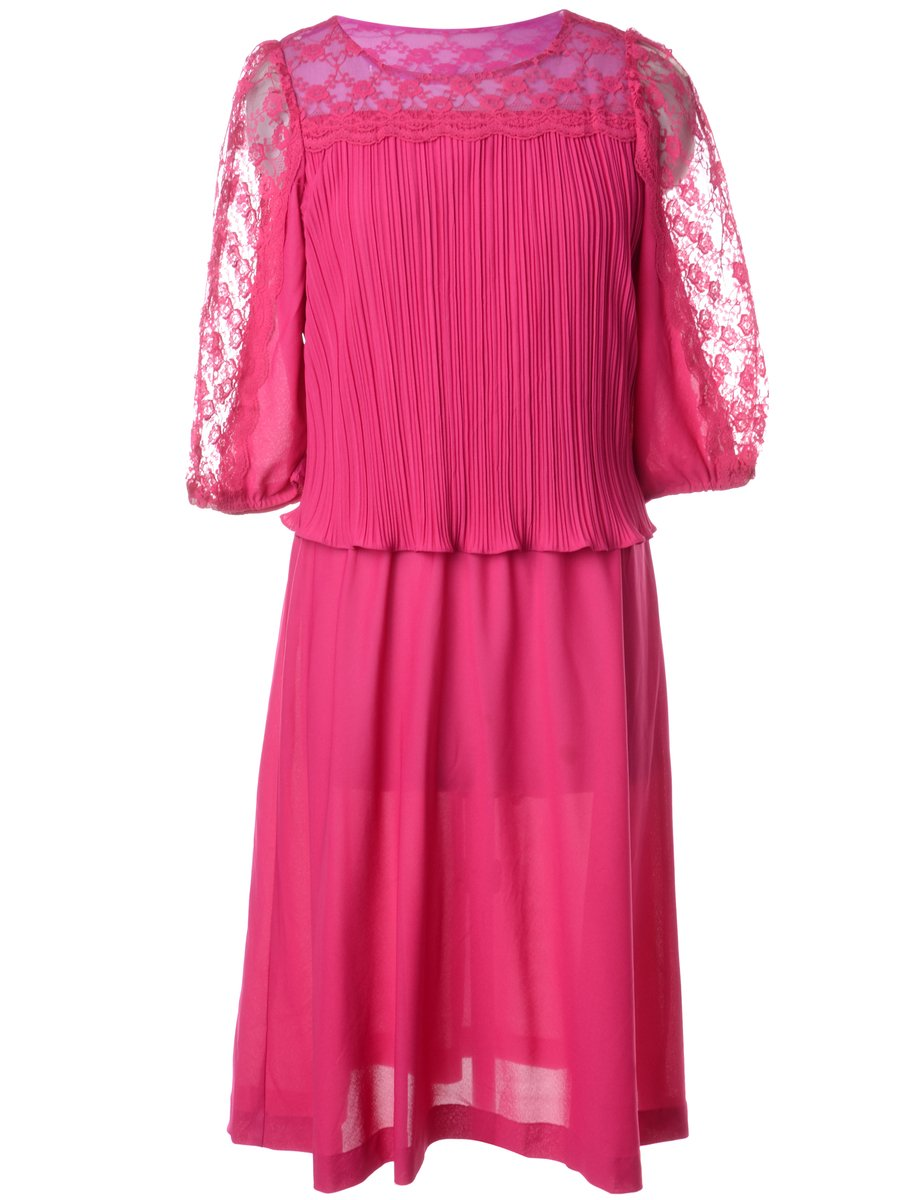 1990s Pink Dress - M