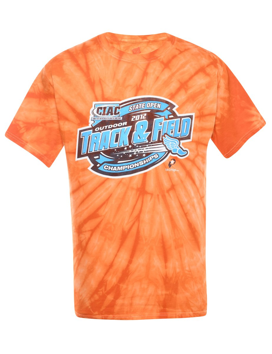 2000s Tie Dyed T-shirt - M