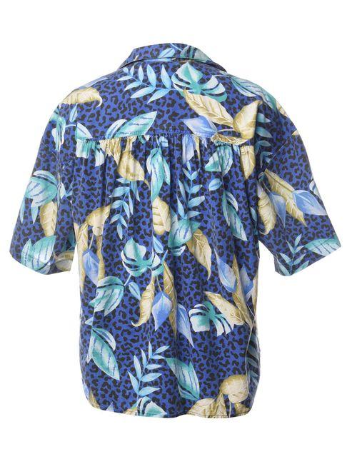 Beyond Retro 1990s Foliage Hawaiian Shirt - L