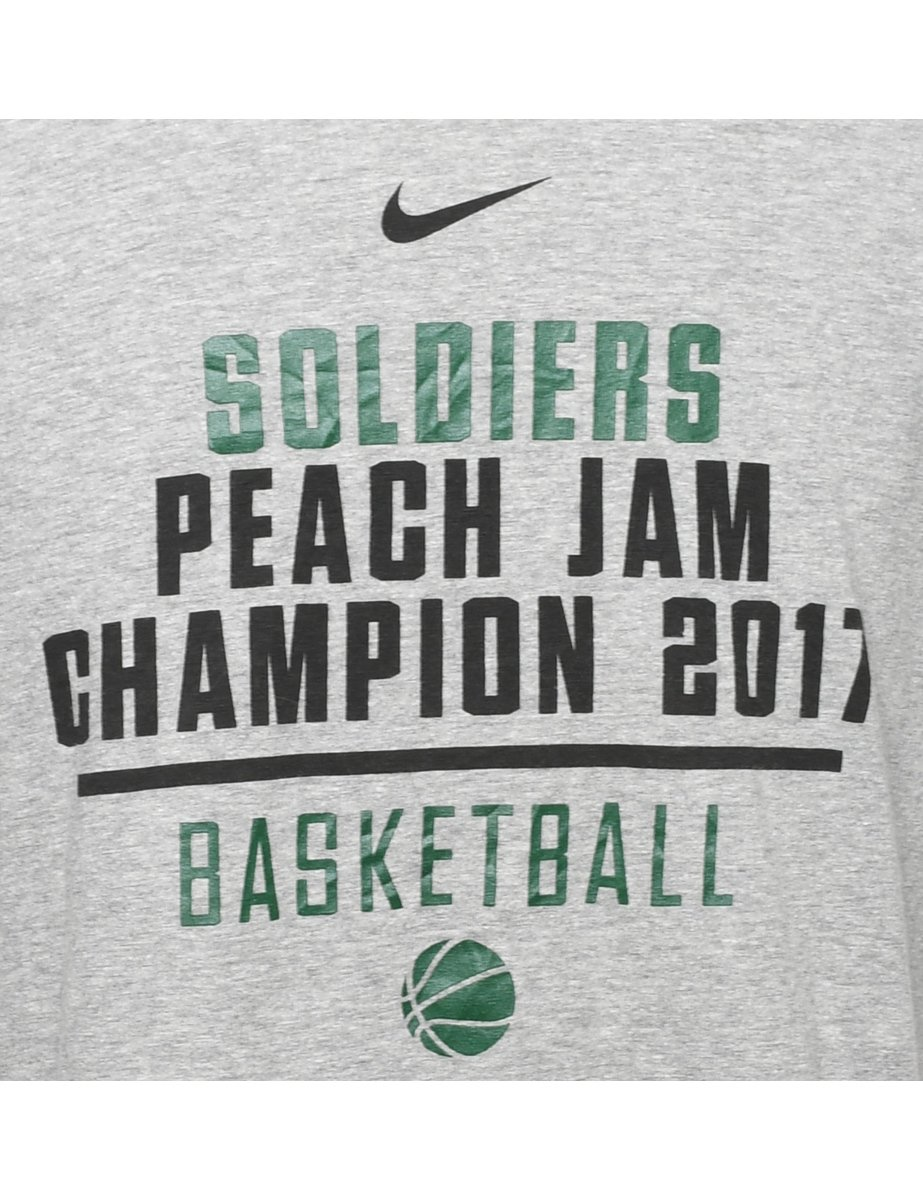 2000s Nike Soldiers Basketball Printed T-shirt - M