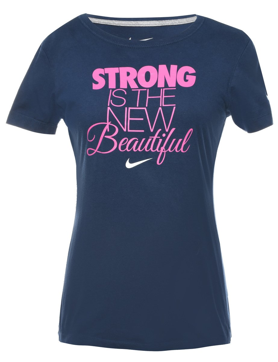 2000s Nike Strong Is The New Beautiful Printed T-shirt - M