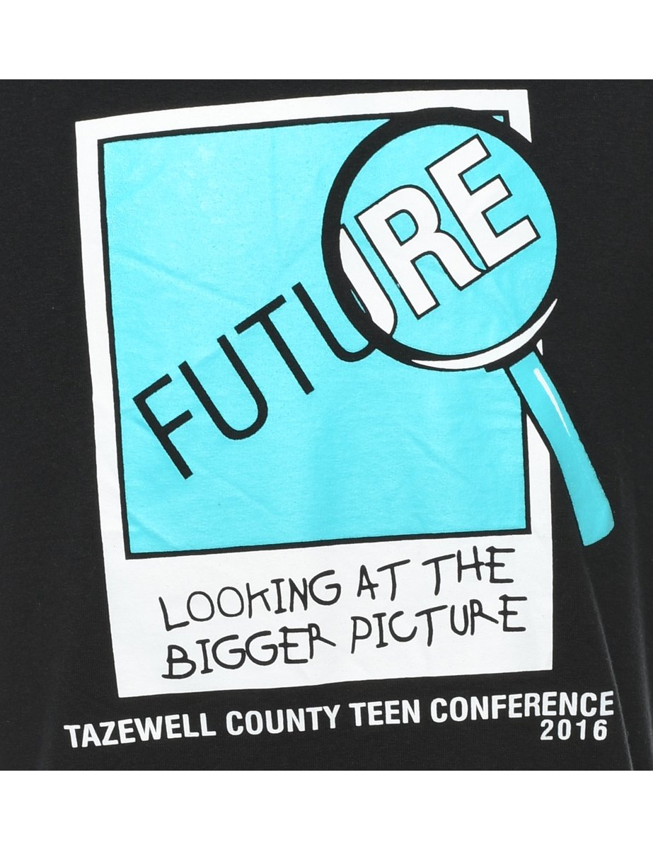 Beyond Retro 2000s Future Looking At The Bigger Picture Printed T-shirt - S