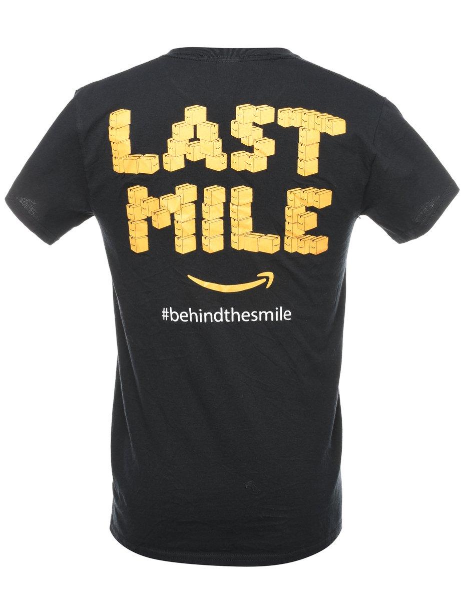Beyond Retro 2000s AMZL Peak Delivering Smiles Printed T-shirt - S