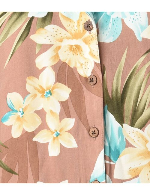 1990s Floral Hawaiian Shirt - L