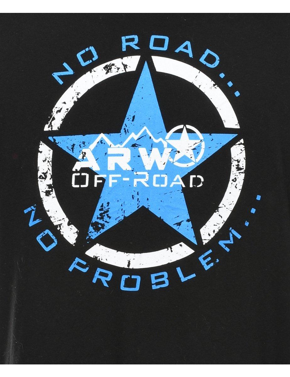 Beyond Retro 2000s Black ARW Printed T-shirt - L