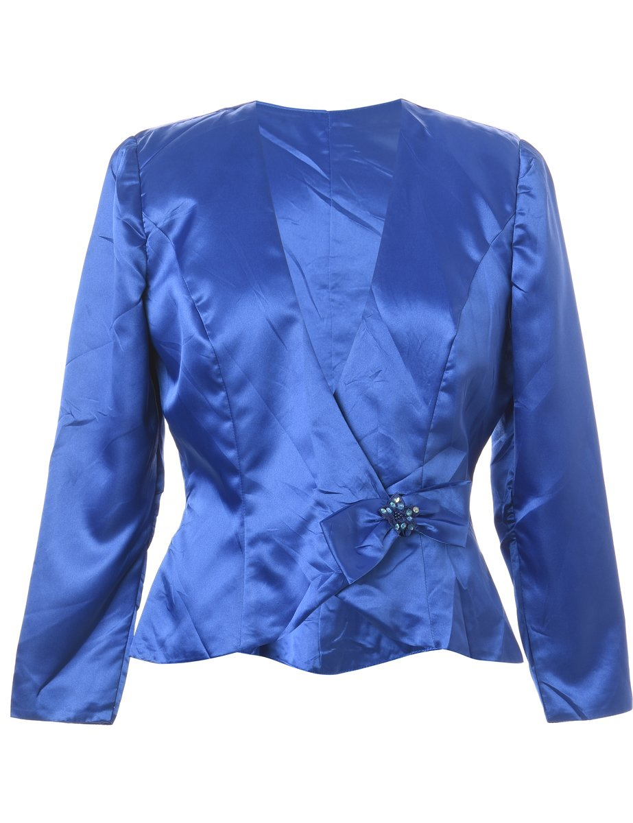 1990s Button Front Evening Jacket - M