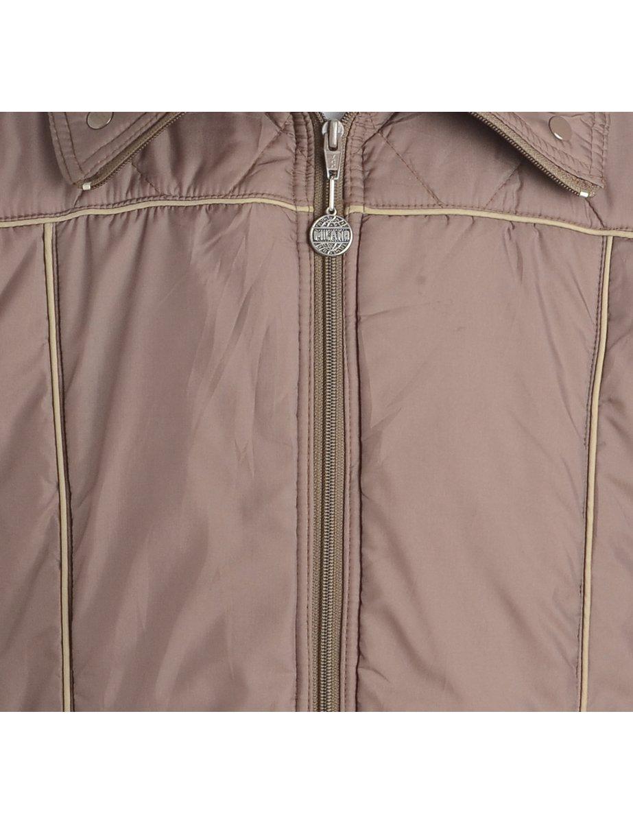 Beyond Retro 1980s Brown Nylon Jacket - M