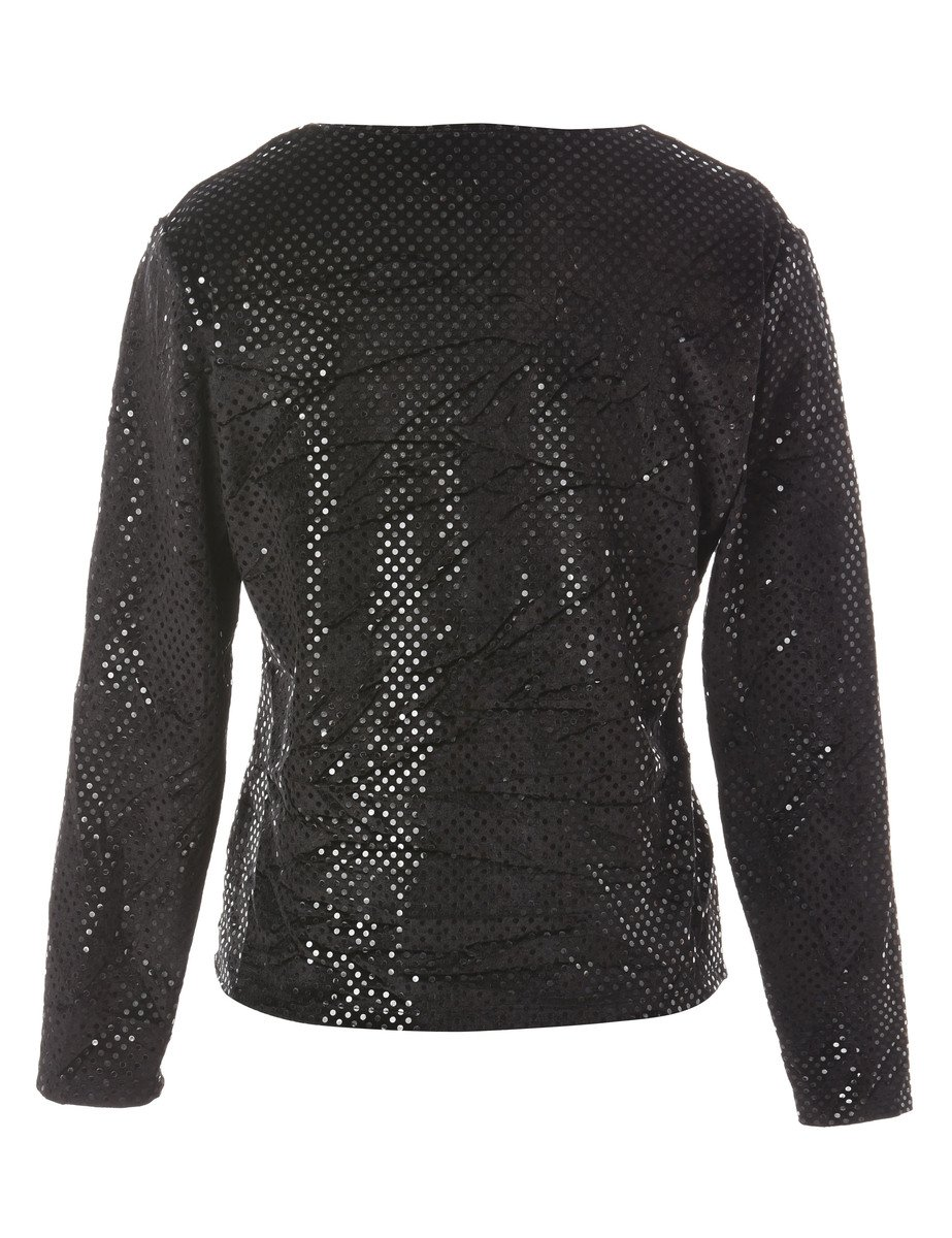 Beyond Retro 1990s Long Sleeved Evening Top - M